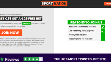SportNation go LIVE with Bet €25 Get €25 Welcome Bonus